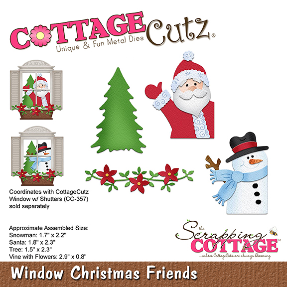 Fotos Cena Navidad Frinsa.Cottagecutz Window Christmas Friends