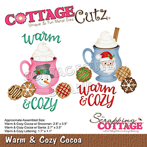 Cocoa Snowman Cup Die Craft Steel Die Cutting Dies Cottage Cutz CC-491 New